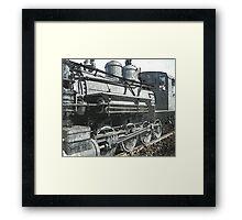 Vintage Steam Locomotive Framed Print