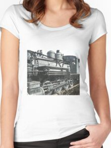 Vintage Steam Locomotive Women's Fitted Scoop T-Shirt