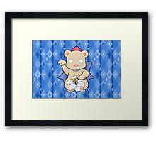 Lucky Bear Kureha Framed Print