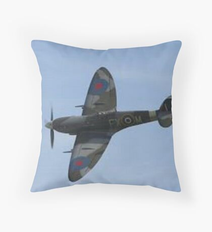 WWII British Spitfire Throw Pillow