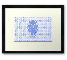 Yuri Kuma Kureha Bear Silhouette  Framed Print