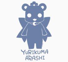 Yuri Kuma Kureha Bear Silhouette  Baby Tee