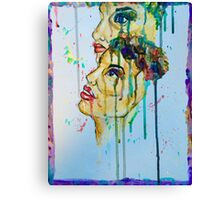 Dripping eyes Canvas Print