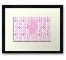 Yuri Kuma Ginko Bear Silhouette Framed Print