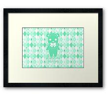 Yuri Kuma Lulu Bear Silhouette Framed Print