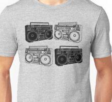 Ghetto Blaster BW Unisex T-Shirt
