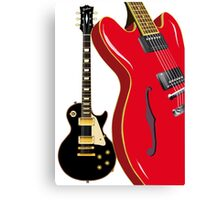 Blues Guitars Canvas Print