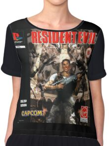 Resident Evil Original Destressed Chiffon Top