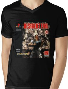 Resident Evil Original Destressed Mens V-Neck T-Shirt