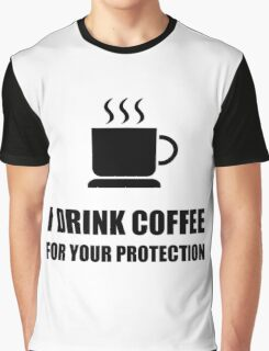 Coffee Protection Graphic T-Shirt