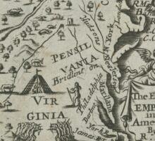 Map of the English Empire in America 1685 Sticker