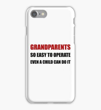 Grandparents Operate iPhone Case/Skin