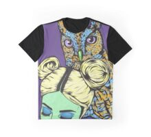 Girl with Owl Graphic T-Shirt