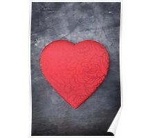 Red Heart Love Poster