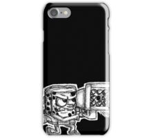 Spongebob with a Missile Launcher - Black Accessories iPhone Case/Skin