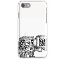 Spongebob with a Missile Launcher - White Accessories iPhone Case/Skin