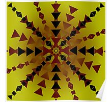 Yellow Red Black Pattern Poster
