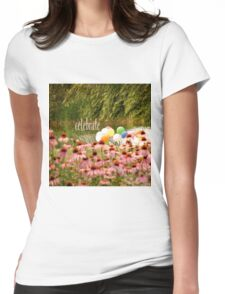 Balloons and Echinacea Celebrate Womens Fitted T-Shirt