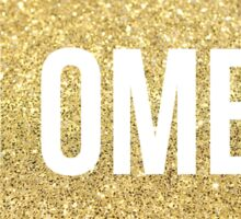 chi omega gold sparkles Sticker