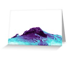Techno Mountain Greeting Card