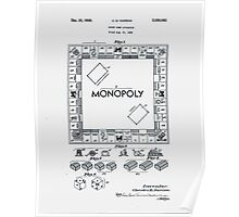 Monopoly Board Patent 1935 Poster