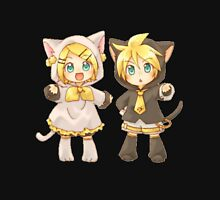 Cute Kagamine Rin and Len Neko Chibi Unisex T-Shirt