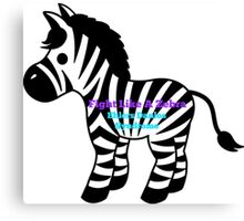 Fight Like A Zebra - Ehlers Danlos Syndrome Awareness Canvas Print