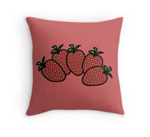 Strawbs Throw Pillow