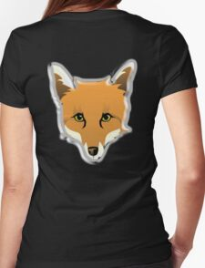 FOX, Foxy, Fox Face, Foxface, Wildlife, Urban Fox, Nature, Dog Womens Fitted T-Shirt