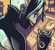 Cyberpunk Hacker Girl Sticker