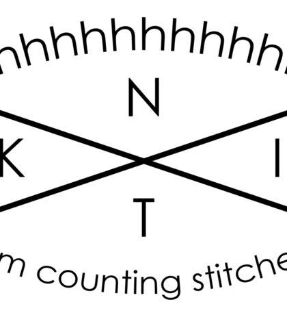 Knitting Counting Stitches - Sticker  Sticker