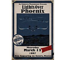 Arizona Light Show Retro Poster Photographic Print