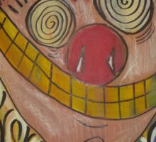 Crazy Carnie Clown Sticker