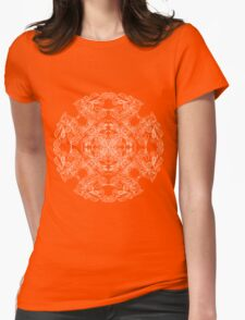 ornate pattern Womens Fitted T-Shirt