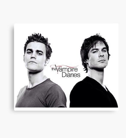 The vampire diaries Salvatore Brothers  Canvas Print