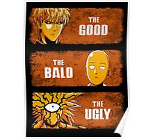 The Good, the Bald and the Ugly Poster