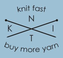 Knit Fast Buy More Yarn Kids Tee