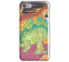 Allosaurus vs Stegosaurus iPhone Case/Skin