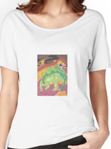 Allosaurus vs Stegosaurus Women's Relaxed Fit T-Shirt