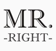 Mr Right One Piece - Long Sleeve