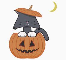 Pumpkin Cat Kids Tee