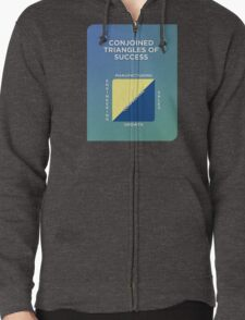Conjoined Triangles of Success Zipped Hoodie