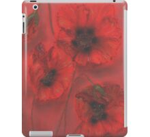 red poppies is beautiful flowers iPad Case/Skin