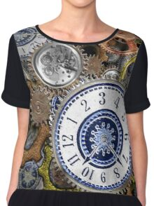 Steampunk clockwork gears accessories and tees Chiffon Top