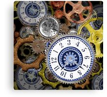 Steampunk clockwork gears accessories and tees Canvas Print