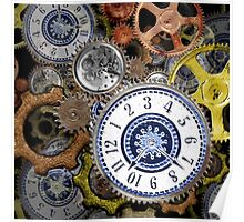 Steampunk clockwork gears accessories and tees Poster