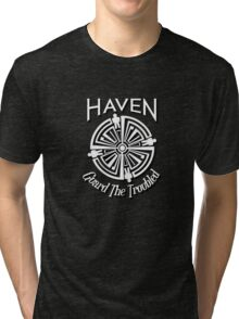 Haven Troubled Tattoo White Logo Tri-blend T-Shirt