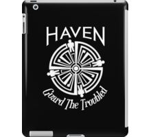Haven Troubled Tattoo White Logo iPad Case/Skin