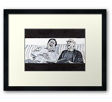 Curb Your Enthusiasm, Larry David and Jeff Garlin Framed Print