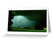 GREEN STORM Greeting Card